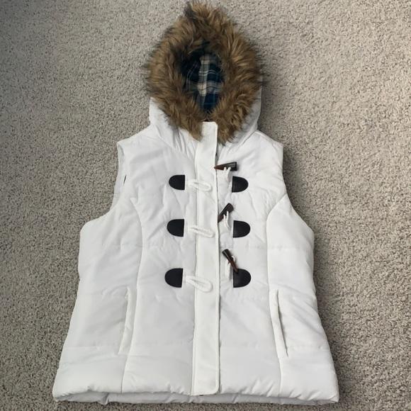 White Puff Vest